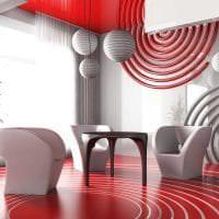 комбинирование красного с другими цветами в стиле дома фото
