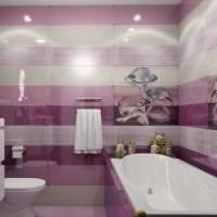 сочетание сиреневого цвета в дизайне спальни картинка
