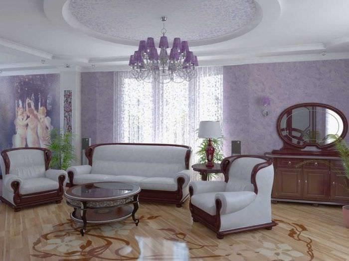 комбинирование сиреневого цвета в дизайне квартиры