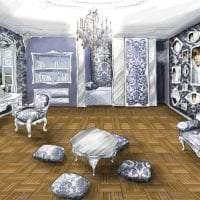 красивый дизайн спальни в стиле рококо картинка