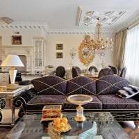 яркий интерьер кухни в стиле рококо фото