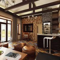 яркий дизайн квартиры в стиле кантри картинка
