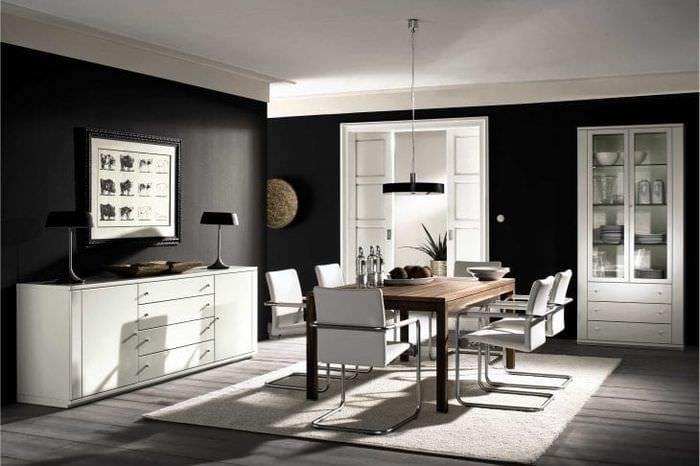 светлая белая мебель в стиле коридора