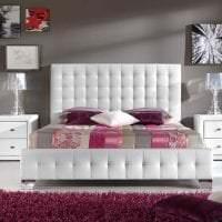 яркая белая мебель в интерьере спальни картинка