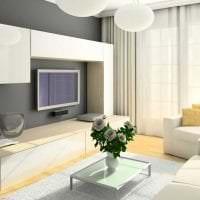 светлая белая мебель в декоре гостиной картинка