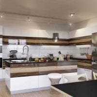 яркий стиль элитной кухни в стиле арт деко фото