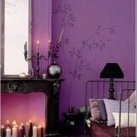 светлый стиль квартиры в фиолетовом цвете фото