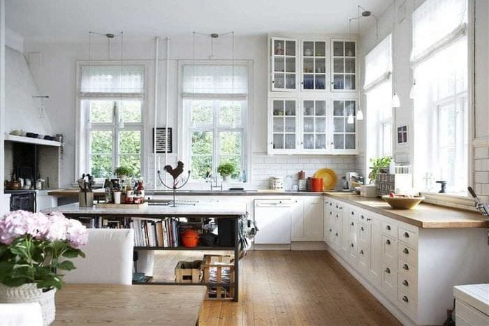 яркий стиль кухни в шведском стиле