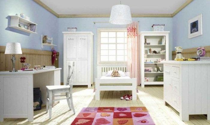 светлый стиль спальни в шведском стиле