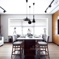светлый дизайн гостиной в стиле лофт фото