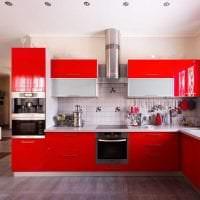 яркий интерьер элитной кухни в стиле модерн фото