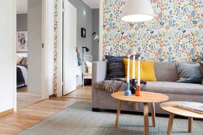 необычный дизайн коридора в шведском стиле