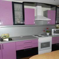 красивый стиль кухни в фиолетовом оттенке фото