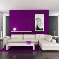 яркий декор коридора в фиолетовом цвете фото