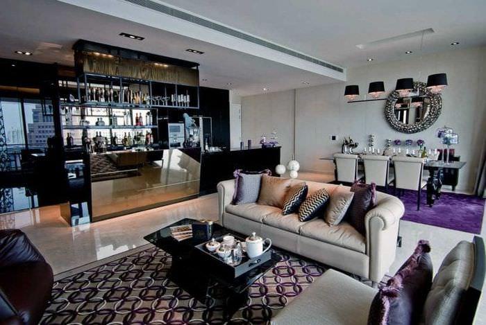светлый дизайн спальни в стиле гранж