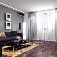 светлый фиолетовый диван в фасаде спальни фото