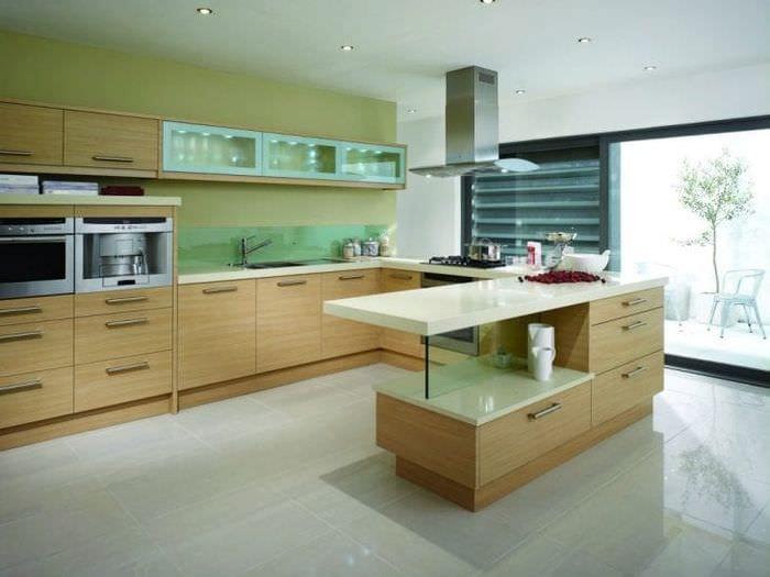 красивый фисташковый цвет в стиле кухни