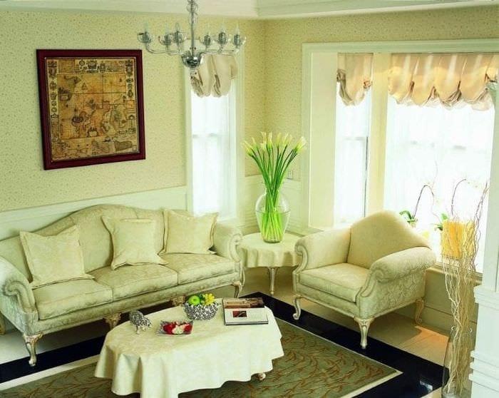 необычный фисташковый цвет в декоре квартиры