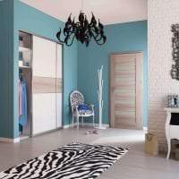 красивый дизайн коридора в цвете венге картинка