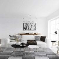 светлый декор гостиной в шведском стиле картинка