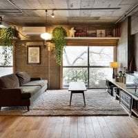 красивый интерьер спальни в стиле гранж картинка