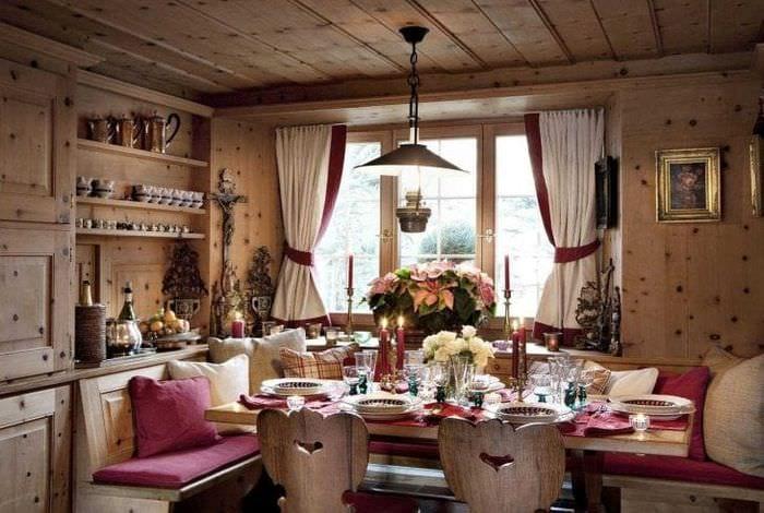 яркий дизайн дома в стиле кантри