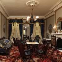 яркий стиль гостиной в стиле рококо фото