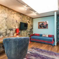 светлый декор квартиры в стиле гранж фото