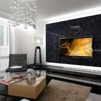 светлый интерьер спальни в стиле авангард фото