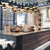 необычный интерьер кухни в стиле фьюжн фото