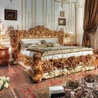 красивый дизайн гостиной в стиле барокко картинка