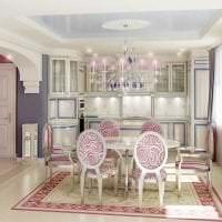яркий интерьер кухни в стиле барокко фото