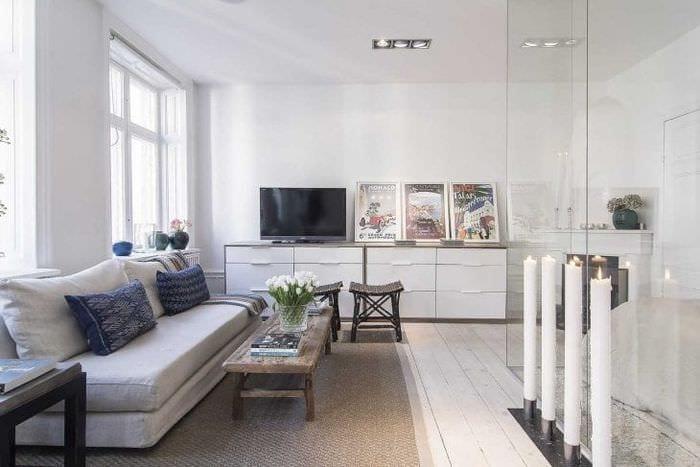 красивый декор спальни в шведском стиле