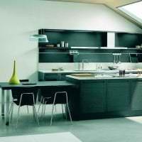 красивый дизайн элитной кухни в стиле арт деко картинка