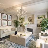 красивый эргономичный интерьер гостиной картинка