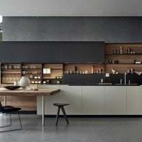 светлый интерьер элитной кухни в стиле арт деко картинка