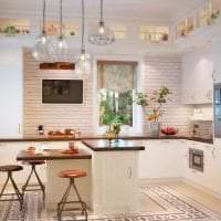 темный декор элитной кухни в стиле модерн фото