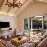 уютный светлый дизайн гостиной картинка