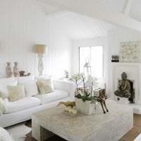 яркая белая мебель в дизайне квартиры фото