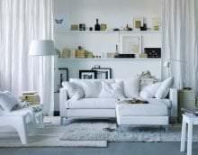 светлая белая мебель в декоре коридора картинка