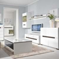 яркая белая мебель в стиле прихожей фото