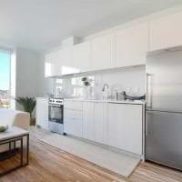 светлая белая мебель в декоре гостиной фото