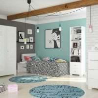 яркая белая мебель в интерьере квартиры фото