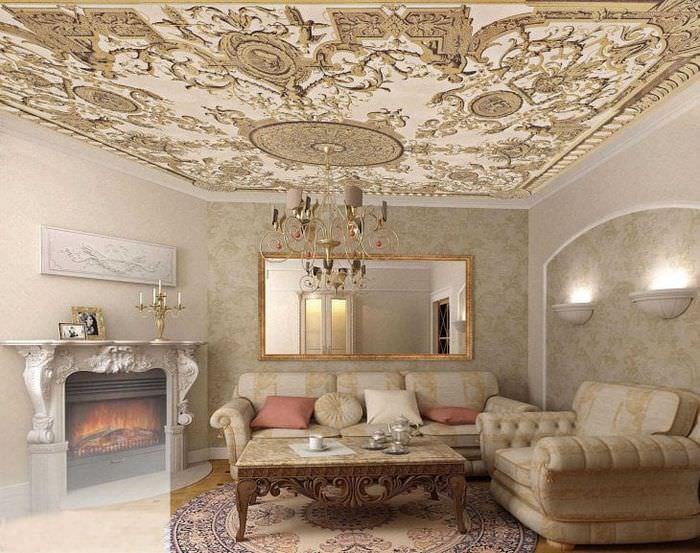 светлая комната в стиле лофт