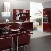 яркий бордовый цвет в стиле дома картинка