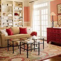 яркий бордовый цвет в дизайне квартиры фото