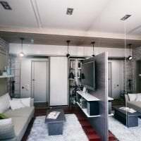 светлый интерьер кухни в стиле лофт картинка