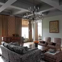 необычный декор гостиной в стиле фьюжн фото