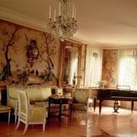 красивый дизайн коридора в стиле рококо картинка
