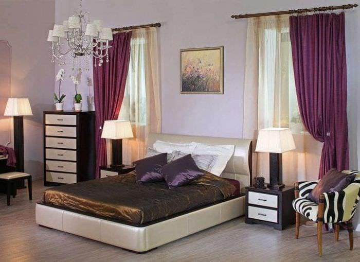 красивый дизайн гостиной в цвете венге
